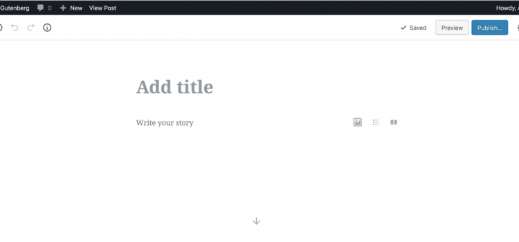 new Wordpress version